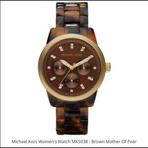Michael Kors tortoise shell watch band